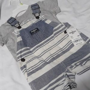 Oshkosh shortalls & Carter's shirt NWT 6m